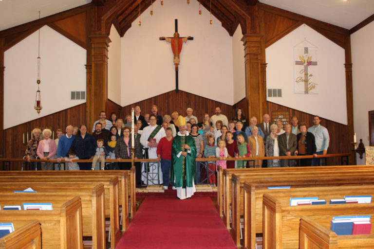 The Parish of Tazewell County with the Rt Rev. Daniel H. Martins on his parochial visit on 13 November 2016, at All Saints' Church.